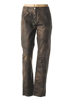 Pantalon casual marron PAUSE CAFE pour femme