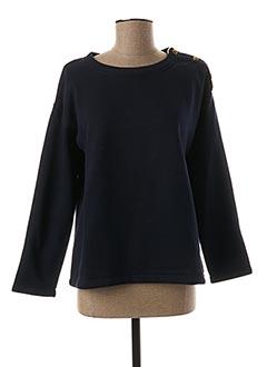 Sweat-shirt bleu QUIET pour femme