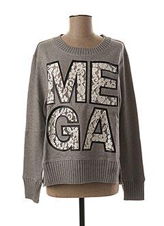 Sweat-shirt gris ESSENTIEL pour femme
