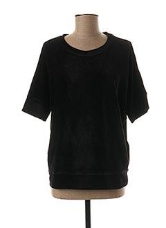 Sweat-shirt noir MAJESTIC FILATURES pour femme