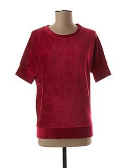 Sweat-shirt rouge MAJESTIC FILATURES pour femme
