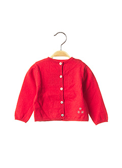Gilet manches longues rouge ABSORBA pour fille