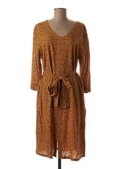 Robe mi-longue jaune CREAM pour femme