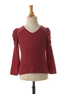 T-shirt manches longues rouge P'TIT MÔME pour fille