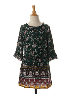 Robe mi-longue vert LPC GIRLS pour fille