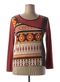 T-shirt manches longues marron HALOGENE pour femme