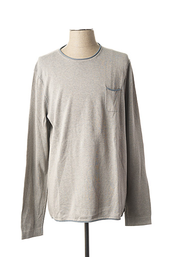 Pull col rond gris IKKS pour homme