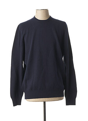 Pull col rond bleu GRAN SASSO pour homme