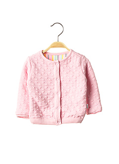 Gilet manches longues rose NOPPIES pour fille