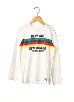 T-shirt manches longues blanc TIFFOSI pour garçon