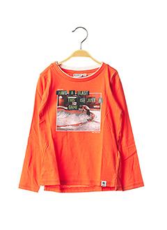 T-shirt manches longues orange GARCIA pour garçon