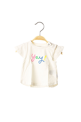 T-shirt manches courtes blanc NOPPIES pour fille