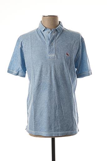 Polo manches courtes bleu GRAN SASSO pour homme