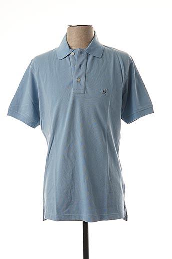 Polo manches courtes bleu JEZEQUEL pour homme