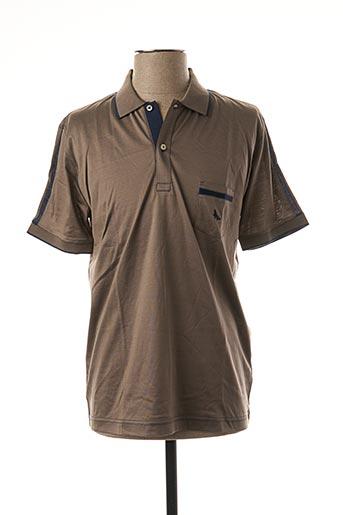 Polo manches courtes marron GRAN SASSO pour homme