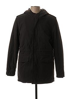 Manteau court noir KOS'SON pour homme