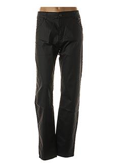Pantalon casual noir FRED SABATIER pour femme