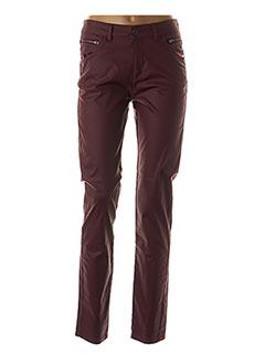 Pantalon casual rouge FRED SABATIER pour femme