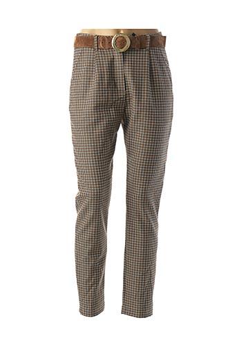 Pantalon chic marron CAROLINE BISS pour femme