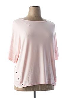T-shirt manches courtes rose MARBLE pour femme