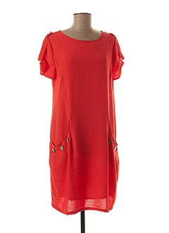 Robe mi-longue orange HALOGENE pour femme