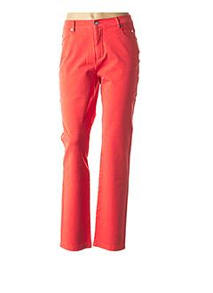 Pantalon casual rouge MARBLE pour femme