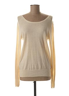 Pull col rond beige IKKS pour femme