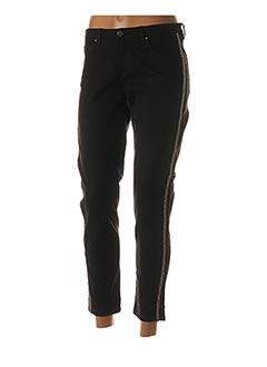 Pantalon casual noir IKKS pour femme
