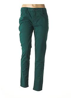 Pantalon casual vert LE PETIT BAIGNEUR pour femme