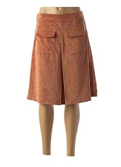 Jupe mi-longue orange PAKO LITTO pour femme