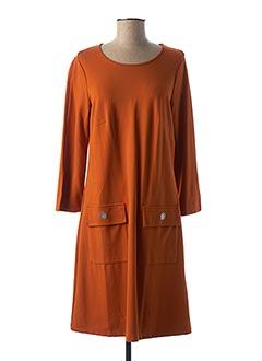 Robe mi-longue orange MALOKA pour femme