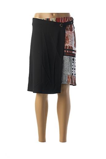 Jupe mi-longue noir DOLCEZZA pour femme