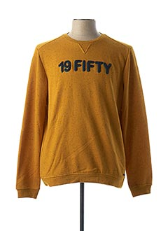 Sweat-shirt jaune NO EXCESS pour homme