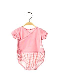 Body lingerie rose PETIT BATEAU pour fille