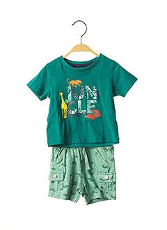 Top/short vert BOBOLI pour garçon