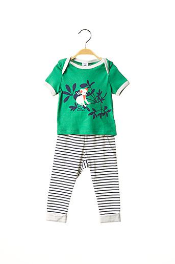 Top/pantalon vert PETIT BATEAU pour garçon