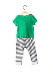 Top/pantalon vert PETIT BATEAU pour garçon seconde vue