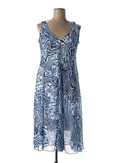 Robe mi-longue bleu ALAIN WEIZ pour femme
