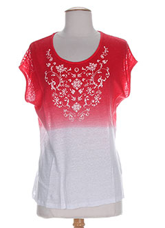 T-shirt manches courtes rouge MALOKA pour femme