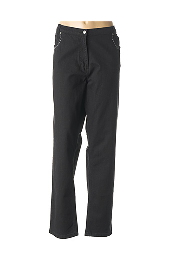 Jeans coupe slim noir FINNKARELIA pour femme