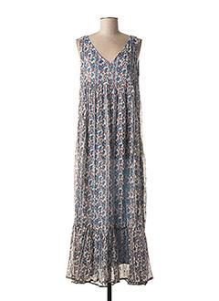 Robe longue bleu GOLD&SILVER PARIS pour femme