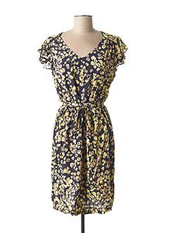 Robe mi-longue jaune CONCEPT K pour femme
