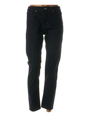 Pantalon casual bleu F.A.M. pour femme