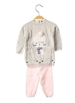 Pull/pantalon gris 3 POMMES pour fille