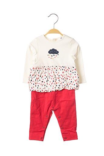 Combi-pantalon rouge 3 POMMES pour fille