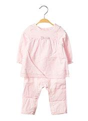 Combi-pantalon rose 3 POMMES pour fille seconde vue