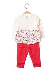 Combi-pantalon rouge 3 POMMES pour fille seconde vue