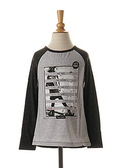 T-shirt manches longues noir 3 POMMES pour fille