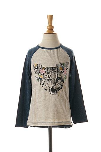 T-shirt manches longues bleu 3 POMMES pour fille
