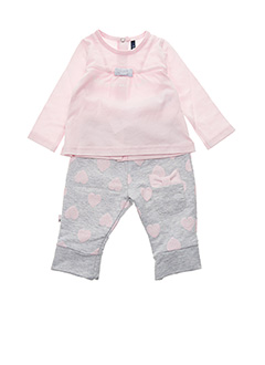 Top/pantalon rose 3 POMMES pour fille